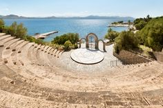 The Open Air Amphitheatre found at #Ramada #Loutraki #Poseidon #Resort is ideal for any type of ceremony out in the open, speeches or team building for up to 900 individuals!