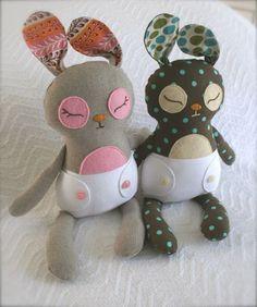 Patrón para imprimir bebé Binky Bunny PDF