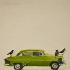 "Saatchi Online Artist Brian Barrer; Mixed Media, ""Hitching a ride series Cuba style"" #art"