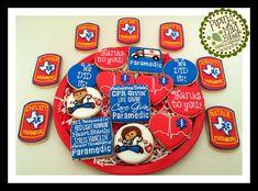 Paramedic Graduation Cookies