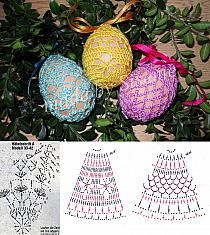 Crochet diagrams for lacy egg covers!!