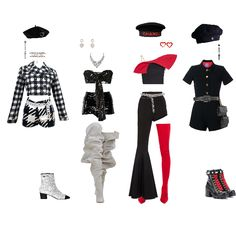 𝓒𝓱𝓮𝓻𝓻𝔂 𝓛𝓪𝓭𝔂 - Fashion look Kpop Fashion Outfits, Girls Fashion Clothes, Stage Outfits, Edgy Outfits, Korean Outfits, Mode Outfits, Dance Outfits, Cute Casual Outfits, Outfits For Teens