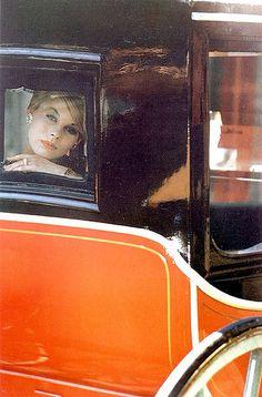 Fashion photo for Harper's Bazaar by Saul Leiter, 1960