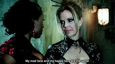 """Pam suffers from Resting Bitch Face syndrome (RBF) and it makes her so relatable. 