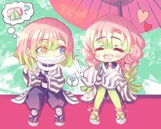 Anime Chibi, Slayer Anime, Anime Demon, Kirito, Kawaii Anime Girl, Kawaii Drawings, Otaku Anime, Manga, Anime Couples