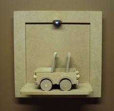 Quadro porta maternidade led carrinho