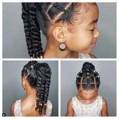 Hair Cut Styles For Women Little Girl Fancy Hairstyles Hair hair cutting style 2016 - Hair Cutting Style Black Kids Hairstyles, Natural Hairstyles For Kids, Kids Braided Hairstyles, Fancy Hairstyles, Mixed Girl Hairstyles, Hairstyles Videos, Men Hairstyles, Lil Girl Hairstyles Braids, Kids Natural Hair