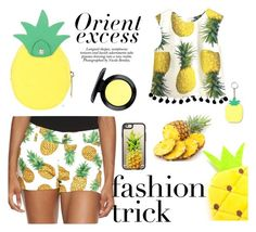 """""""Pineapple Girl"""" by erohina-d ❤ liked on Polyvore featuring beauty, Loudmouth, Nicole, Casetify, Topshop and MAC Cosmetics"""