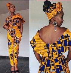 African jumpsuit with two sides pocket, ankara print, African party wear, African clothing at Diyanu African Fashion Designers, African Inspired Fashion, African Print Fashion, Africa Fashion, Modern African Fashion, African Print Dresses, African Fashion Dresses, African Dress, African Prints