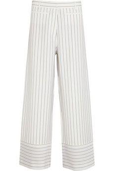 Acne Studios Kat pinstriped wool-blend wide-leg pants | NET-A-PORTER