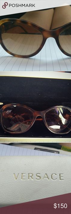 Versace Sunglasses Versace Tortoiseshell Cateye Aviator Sunglasses Model 4262 5061/13.  This model of sunglasses are polarized. Received as gift, but they have never been worn as they aren't my style so there are no signs of any imperfections and are in perfect condition. Case is included. Versace Accessories Sunglasses