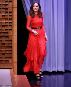 Paint the town red like Dakota wearing Gucci #DailyMail  Click 'Visit' to buy now
