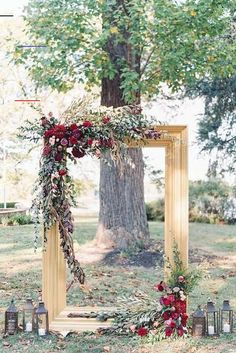 Wedding Ceremony Ideas Getting ready for a fall wedding and don't know what decor to choose for your wedding arch? Or wanna add some touches? Here are some gorgeous trendy ideas .