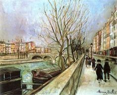 Мaurice Utrillo Amedeo Modigliani, Renoir, Maurice Utrillo, Monet, Paris Painting, Old Paris, Modern Art Paintings, Post Impressionism, Famous Art
