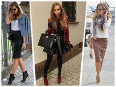 10 formas de combinar una falda de cuero