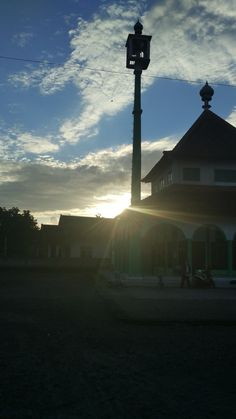 inside shadow of mosque