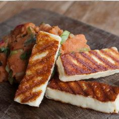 Eat this: Haloumi and sweet potato mash from HelloFresh #sweetpotato #haloumi #food