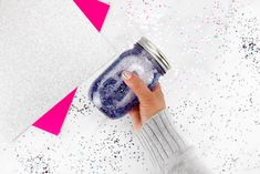 This post is the ultimate one-stop resource on how to make glitter jars; a beautiful, calming and easy DIY mindfulness activity for kids of all ages. Glitter Jars, Glitter Crafts, Glitter Projects, Burlap Crafts, Jar Crafts, Crafts For Kids, Burlap Projects, How To Make Glitter, Diy Galaxy Jar