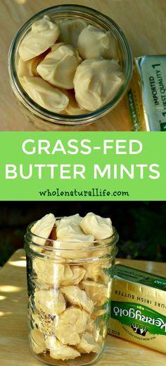 Healthy butter mints | Paleo butter mints | Low carb butter mints | Butter fat bombs