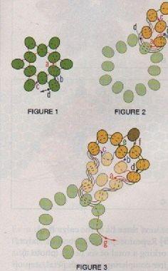 Схема маленьких цветочков колье   biser.info - всё о бисере и бисерном творчестве