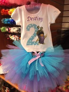Monsters Inc Birthday Tutu Set/Monsters Inc by ItsSoCuteonline