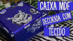Tudo azul: caixa de MDF decorada com tecido e detalhes em scrap decor | ...