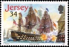 Postage Stamps - Jersey - Battle of Trafalgar Stamp Catalogue, Postage Stamps, Sailing Ships, Battle, Collection, Seals, Boats, Door Bells, Stamps