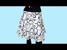 (36) Jak se stříhá půlkolová sukně - YouTube Textiles, Sewing Clothes, Needlework, Diy And Crafts, Sewing Patterns, Ballet Skirt, Style Inspiration, Clothes For Women, Lady