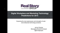 Digital Workplace and Marketing Technology Predictions for 2015