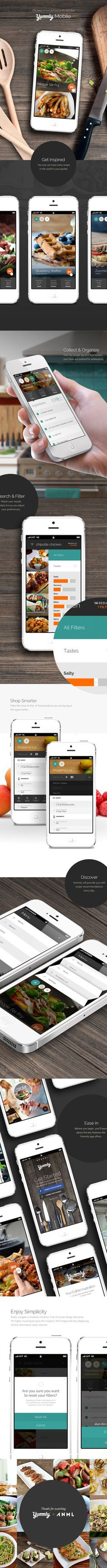 1 Mobile App Design Inspiration – Yummly (FREE – available on app store) – Bence Bohati Mobile App Design Inspiration – Yummly (FREE – available on app store) Yummly Mobile – this recipe app is AWESOME. I use it all the time. Mobile Ui Design, App Ui Design, User Interface Design, Flat Design, Deco Design, Game Design, Design Sites, Web Mobile, Mobile App Ui