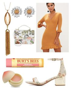 """""""Marigold"""" by lolita061 ❤ liked on Polyvore featuring City Classified, 14th & Union, Design Lab, Burt's Bees and TONYMOLY"""