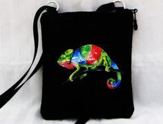 malá crossbody s kapsou-chameleon Chameleon, Mobiles, Drawstring Backpack, Backpacks, Suitcase, Mobile Phones, Chameleons, Backpack, Backpacker