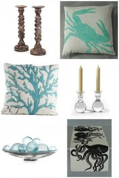 Beach house decor (except I don't like that table runner at all)