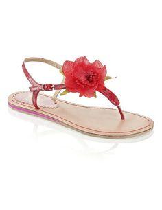 01e9cea53b98 SMH Lack-Sandale - rot - Gratis Versand   Schuhe   Sandalen   Sandaletten   Online  Shop   1442808477