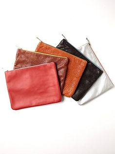 leather clutches that i know how to make now thanks to youtube