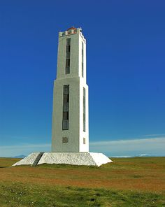 The stark white Knarrarós lighthouse was built in 1938 and is the tallest building in southern Iceland at 86ft.