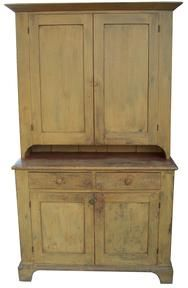 19th century step back cupboard
