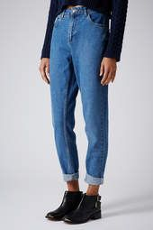 MOTO Vintage Wash Mom Jeans