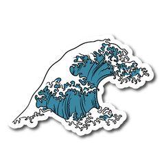 Japense Tsunami Wave Symbol Vinyl Sticker