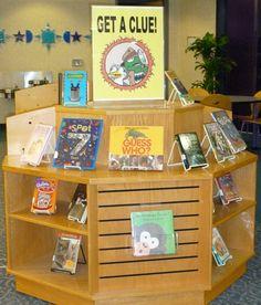 Get a Clue book display