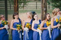 Sunflower Bridesmaids Bouquets