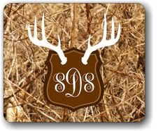 A great accent for your computer, our Antler Mount monogrammed mousepad will add some vavoom to your room! We make the matching phone case too! #camo