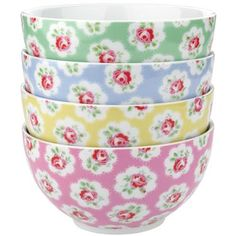 Cath KidstonSet of 4 Provence Rose Cereal Bowls20-862-89-9Price: €26.00                 Our pretty Provence Rose bowls are just the thing for a cheerful breakfast! This pretty print is part of an extensive range allowing you to create a picture perfect table setting. Supplied in a beautiful printed box, ideal as a gift.