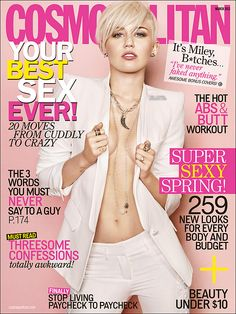 love love love it! Miley Cyrus's cosmo cover:) That's cool!