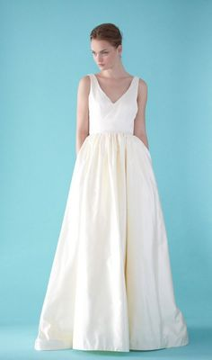 simplistic wedding gown for a Farm Fresh Wedding