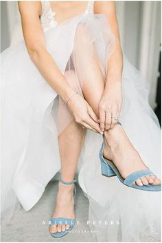 #ariellepeters Bride getting ready for her wedding. A beautiful detail shot of light blue suede wedding shoes, taken during a fall wedding in Indianapolis. Bright and airy wedding photography inspiration by Arielle Peters, Indianapolis wedding photographer. #weddingphotography Light Blue Wedding Shoes, Fall Wedding Shoes, Wedding Shoes Heels, Fall Wedding Colors, Bride Shoes, Bride Photography, Wedding Photography Inspiration, Wedding Inspiration, Top Wedding Trends