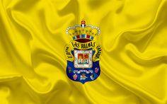 Download wallpapers FC Las Palmas, football club, emblem, logo, La Liga, Las Palmas de Gran Canaria, Spain, LFP, Spanish Football Championships