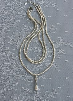 Art Deco Pearl Necklace / portobellojewelry.com