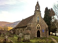 medieval church | View 0f Tintern Parva church and churchyard