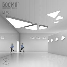 3d models: Ceiling light - MIFA (BOSMA) / MYTH (Bosma)
